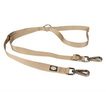North duo leash nylon Taupe 200cm/25mm