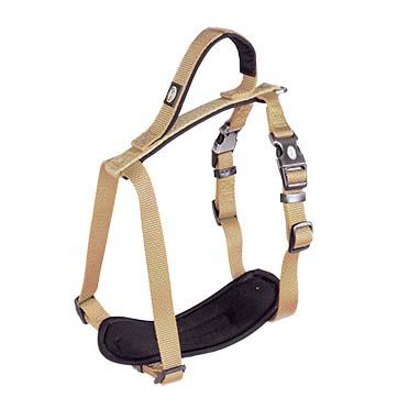 North harness nylon Taupe 30-40cm/15mm