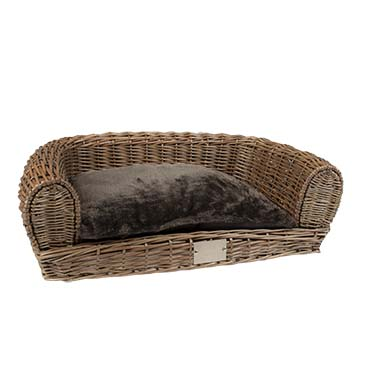 Provence wicker sofa & cushion  100x70x29cm