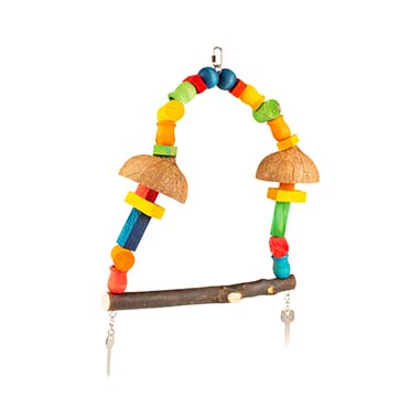 Colourful swing with cubes Mixed colors 12x45x45cm