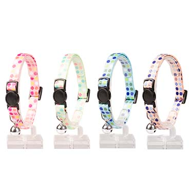 Cat collar candy nylon Mixed colors 20-30cm / 10mm