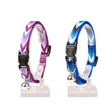 Cat collar boho nylon Mixed colors 20-30cm / 10mm