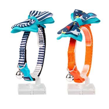 Cat collar bow nylon Mixed colors 20-30cm / 10mm