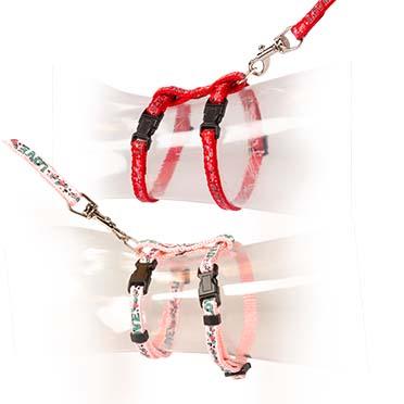 Kat wandelset love Rood/roze 20-35cm / 10mm - 125cm