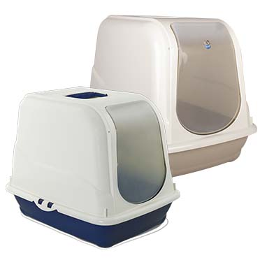 Cat toilet oliver Mocaccino/night blue 46x35x40cm