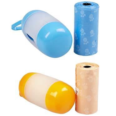 Dog waste bags dispenser duo Blue/orange 10CM