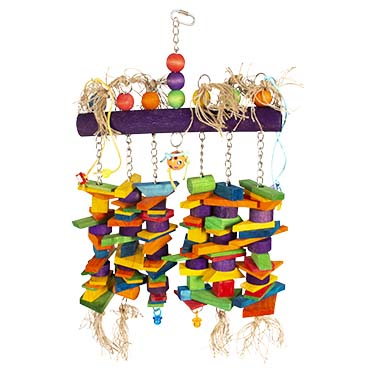 Colourful wooden play mobile  66x42cm