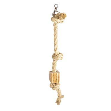 Climbing rope in sisal and wooden bbq block  56cm