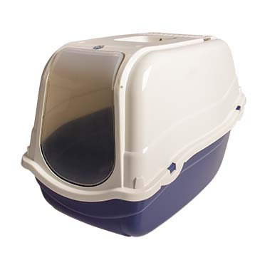 Cat toilet basil with filter Night blue 57x39x41cm