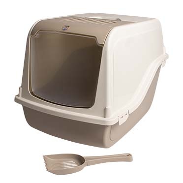 Cat toilet sybil with filter & scoop Mocaccino 57x48x38cm