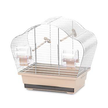 Bird cage natural beta mini Mocha/zinc 36,5x20x34cm