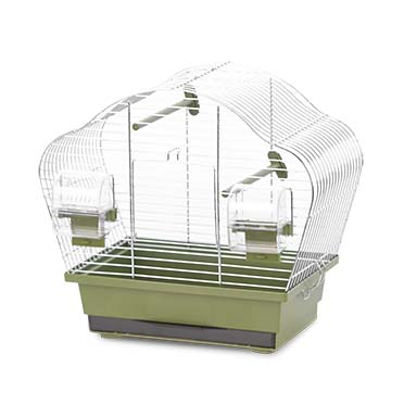 Bird cage natural beta mini Olive green/zinc 36,5x20x34cm