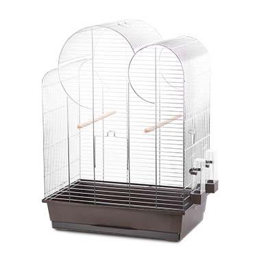 Bird cage natural eliza Brown/zinc 54x34x75cm