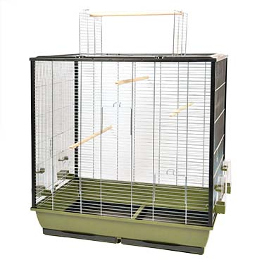 Bird cage natural fiona Olive green/zinc 78x48x81,5cm