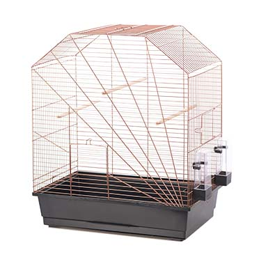 Bird cage copper lexa Black/copper 54x34x64,5cm