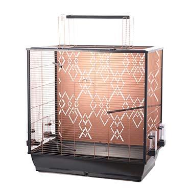 Bird cage copper alix Black/copper 78x48x81,5cm