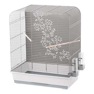 Bird cage zen miki Light grey/grey 54x34x65cm