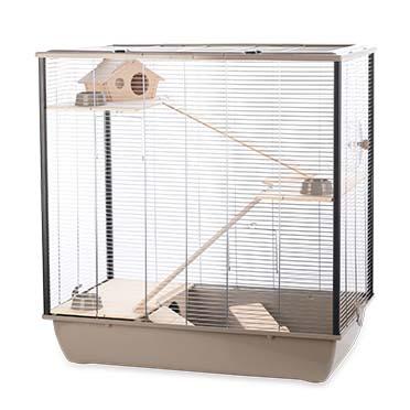 Rodent cage natural fargo Mocha/zinc 78x48x80CM