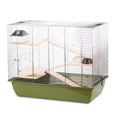 Rodent cage natural charlie 3 Olive green/zinc 70x40x57,5CM