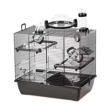 Rodent cage black rufus Black/black 50x33x44,5CM