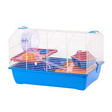 Knaagdierenkooi ibiza victor 2 Lichtblauw/wit 50x33x33CM