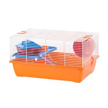 Rodent cage ibiza diego 1 Orange/white 50x33x27CM