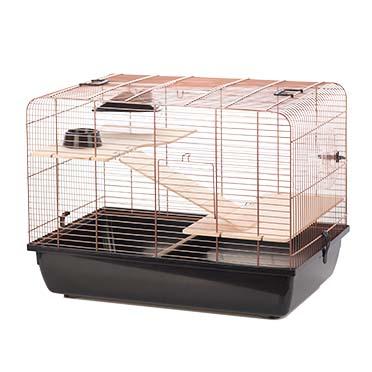Rodent cage copper rex 2 Black/copper 58x38x43CM
