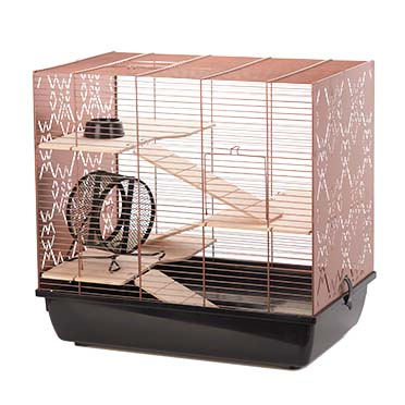 Rodent cage copper lex Black/copper 58x38x55,5CM