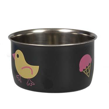 Bird coop cup inox + hook  XS - Ø8cm - 210ml