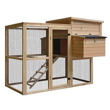 Woodland chicken coop loft attic pinus  172x146x125,5cm