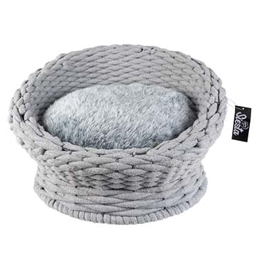 Oyster sofa in cotton rope Grey 49x49x28cm