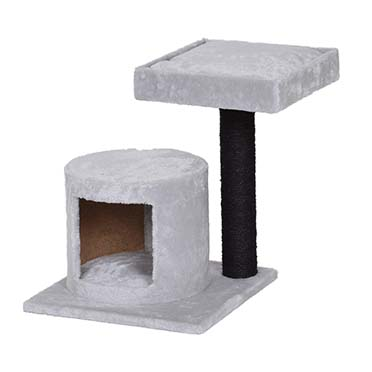 Scratching post achille Grey/black 40x40x49cm