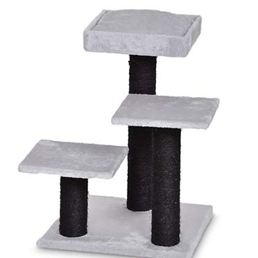 Scratching post alice Grey/black 40x40x56cm