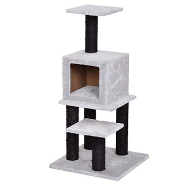 Scratching post angèle Grey/black 45x45x91cm