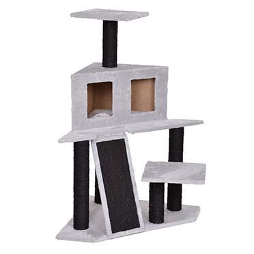 Scratching post annette Grey/black 60x60x103,5cm