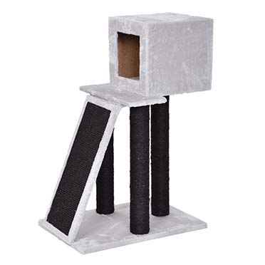 Scratching post antoine Grey/black 40x56x83cm