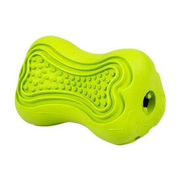 Rubber dental bone & dispenser Green 8x5,5x5,5cm