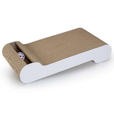 Scratching board wally wave with catnip White 50x26x8,5cm