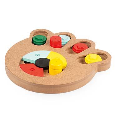 Slide `n snack puzzle - paw Multicolour 23,5x21x2,5cm