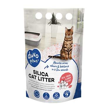 Premium silica cat litter flower White/pink 1-8mm - 5L - 2kg