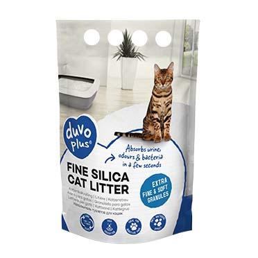 Premium fine silica cat litter White 0,5-1,5mm - 5L - 2kg