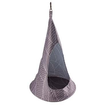 Elm hanging tipi plush Grey/white M - 23x23x42CM