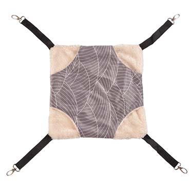 Elm hammock plush Grey/white S - 27x27x2CM