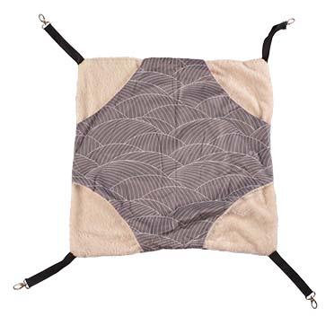 Elm hammock plush Grey/white L - 46x46x2CM