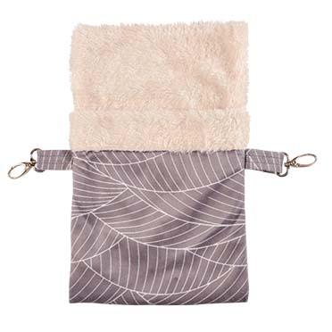 Elm hanging bag plush Grey/white L - 28x18x1CM