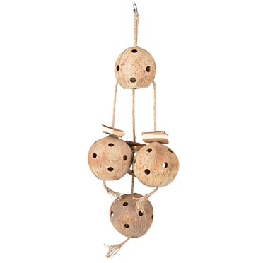 Coconut jungle large hanger with sisal & cardboard  72,5x25x12cm