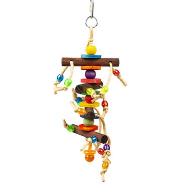 Colourful hanger - wooden blocks & toys Multicolour 28x10,2x6cm