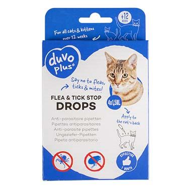 Flea & tick stop anti-parasite drops cat  4x1,5ml