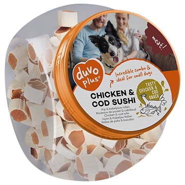 Meat! chicken & cod sushi  500g - ± 138st