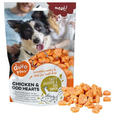 Meat! chicken & cod hearts  180g - ± 170st